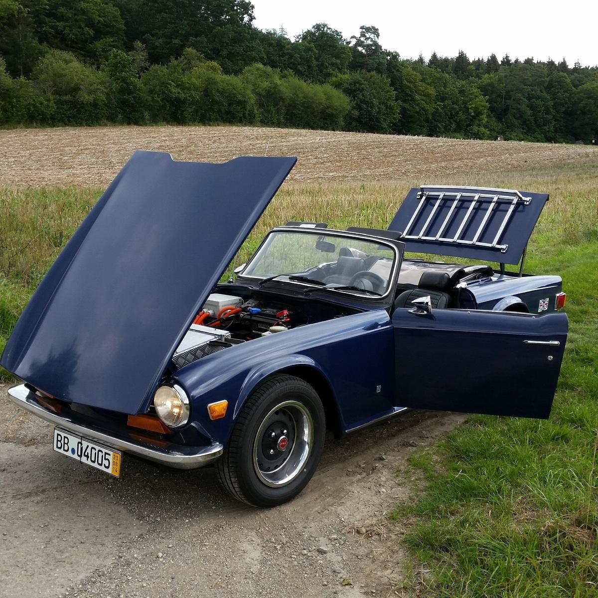 Elektroauto Umbau Triumpf TR 6 - Murschel Electric Cars - Oldtimer Restauration - Interieur Design - Batterie Fertigung - Elektroauto Prototypen Bau